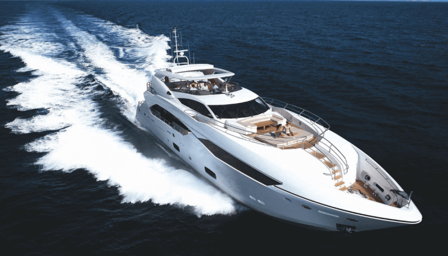 NO.9 by Sunseeker for a luxury yacht charter trip