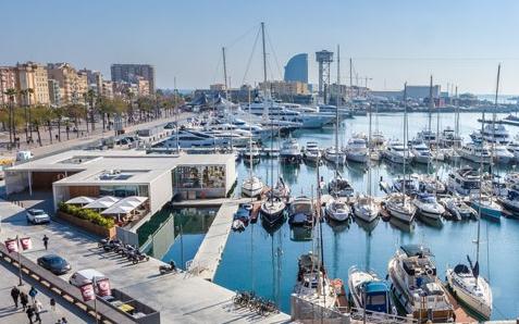 marina port vell, Barcelona, Spain