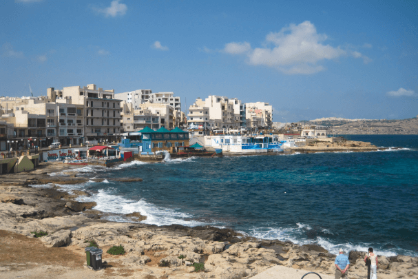 Bugibba Perched Beach Malta Beaches