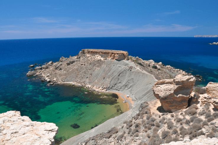 Gnejna Bay Cliffs Malta Beaches