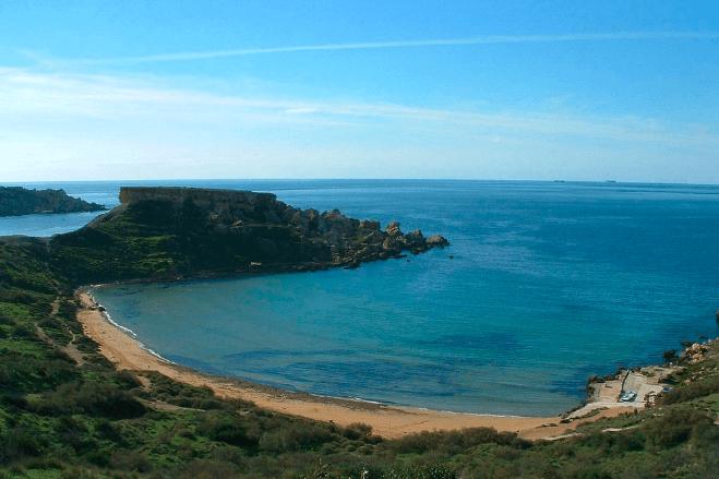 Golden Bay Malta Beaches