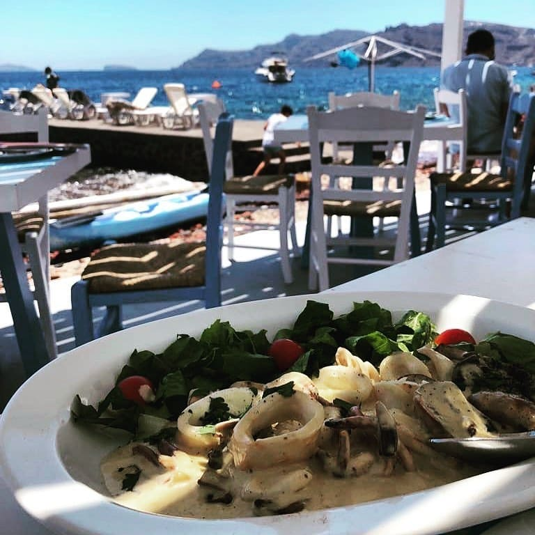 restaurants yacht Mediterranean, Armeni, Santorini